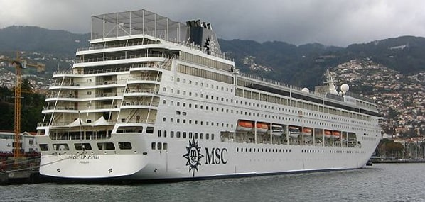 MSC Armonia places