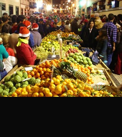 Night Market in Funchal - December 23 is celebrated the famous 1