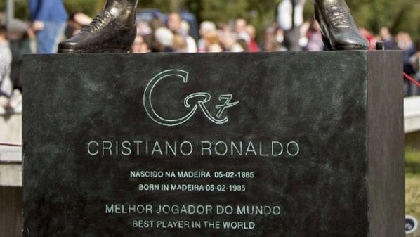 The statue of Cristiano Ronaldo