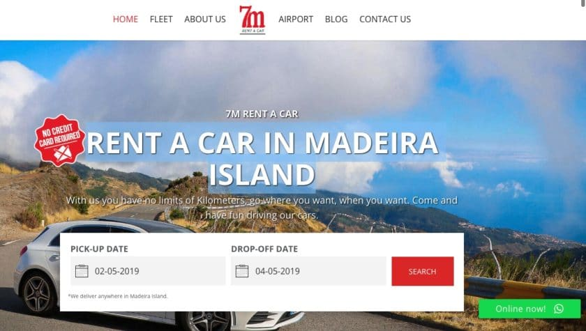 7M - RENT A CAR IN MADEIRA ISLAND 1